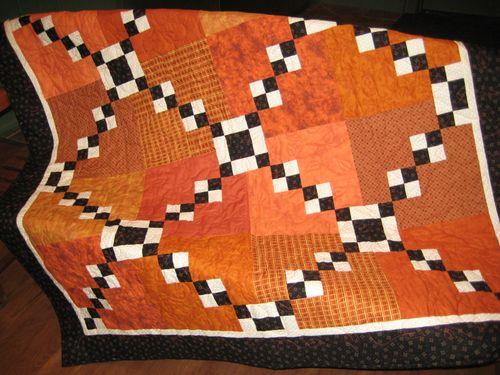 Halloween scrap quilt